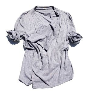 J.CREW asymmetrical cotton cardigan XL